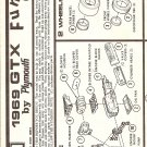 Inst Sheet 1969 Gtx Funny Car