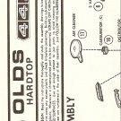Inst Sheet 1970 Olds 442