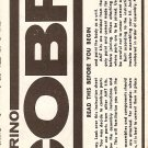 Inst Sheet 1971 Torino Cobra