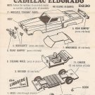 Inst Sheet 1972 Cadillac Eldorado Snap Fit