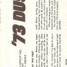 Inst Sheet 1973 Duster
