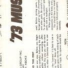 Inst Sheet 1973 Mustang