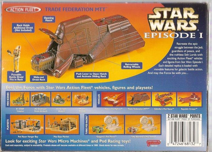 STAR WARS TRADE FEDERATION MTT # 68130, 8.0 VF