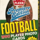 1990 FLEER PREMIERE EDITION FOOTBALL PLAYER PHOTO CARDS BOX # 558, 9.2 NM -