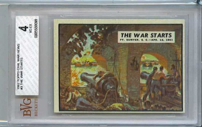 BVG GRADED 1962 CIVIL WAR NEWS # 3, 4.0 VG