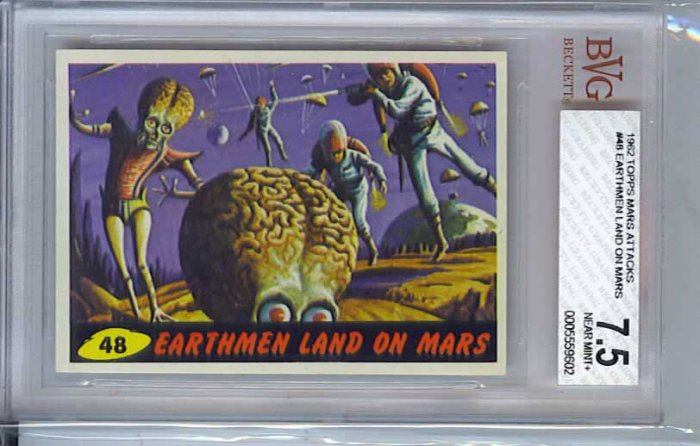 BVG GRADED 1962 MARS ATTACKS # 48, 7.5 VF -