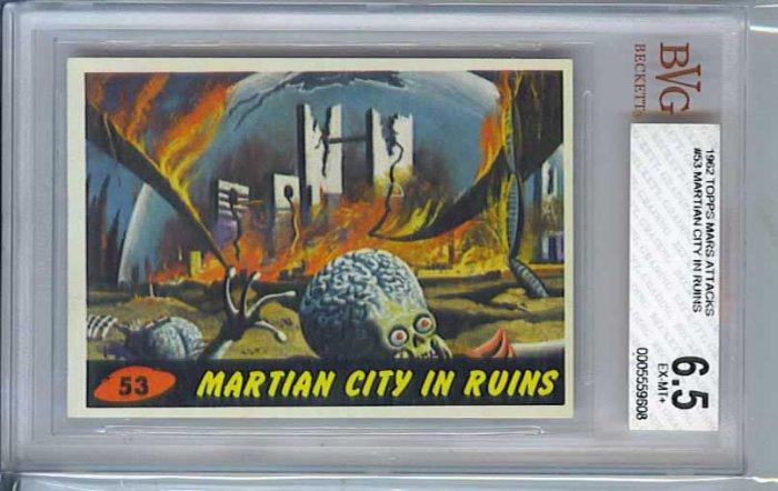 BVG GRADED 1962 MARS ATTACKS # 53, 6.5 FN +