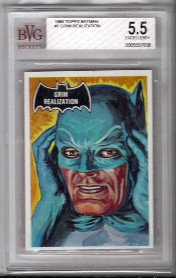 BVG GRADED 1966 BATMAN CARD # 7, 5.5 FN -