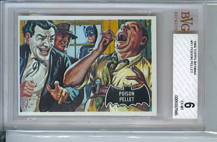 BVG GRADED 1966 BATMAN CARD # 11, 6.0 FN