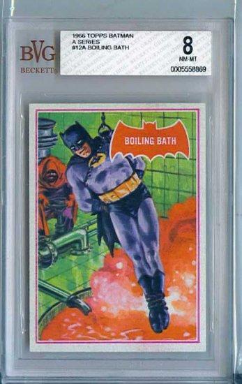 BVG GRADED 1966 BATMAN CARD # 12, 8.0 VF