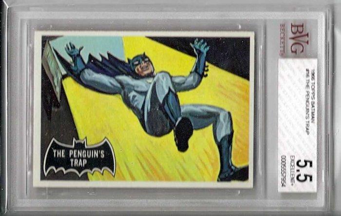 BVG GRADED 1966 BATMAN CARD # 16, 5.5 FN -