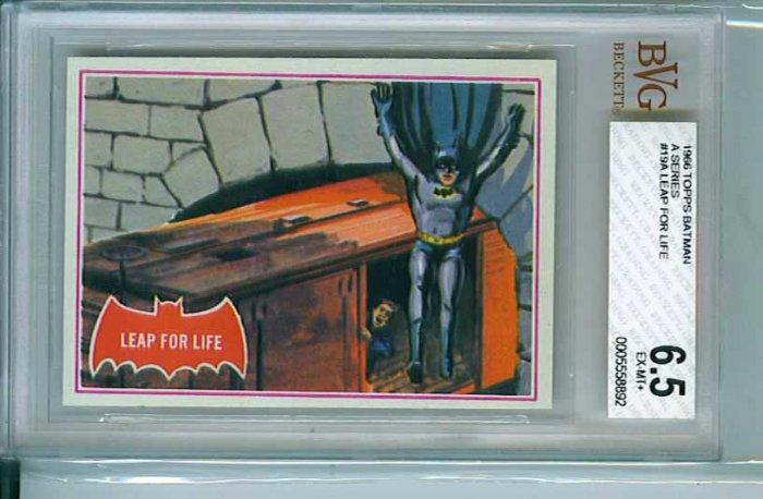 BVG GRADED 1966 BATMAN CARD # 19, 6.5 FN +
