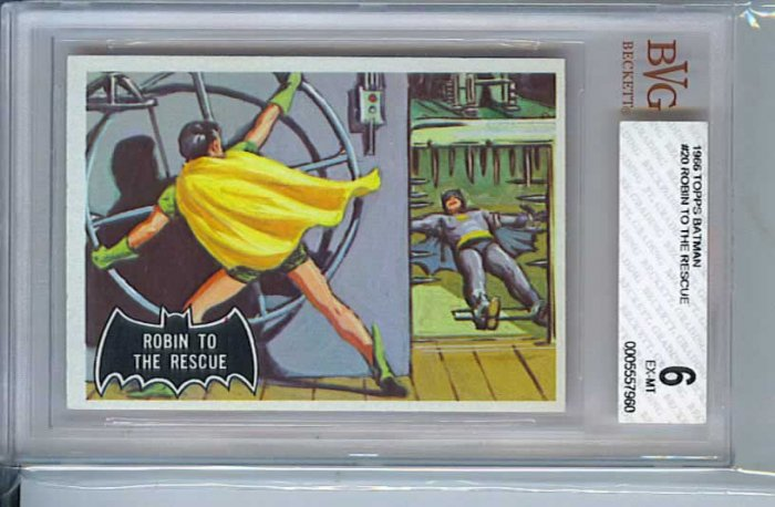 BVG GRADED 1966 BATMAN CARD # 20, 6.0 FN