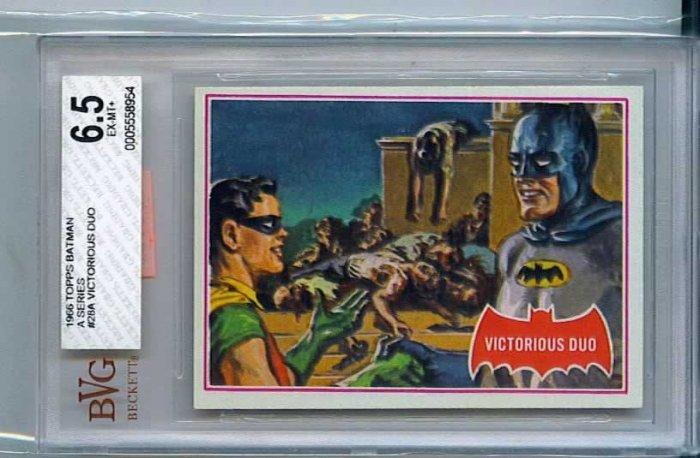 BVG GRADED 1966 BATMAN CARD # 28, 6.5 FN +