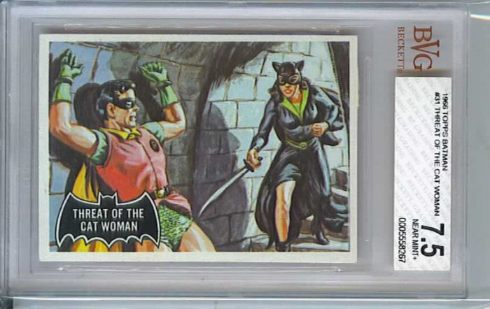BVG GRADED 1966 BATMAN CARD # 31, 7.5 VF -