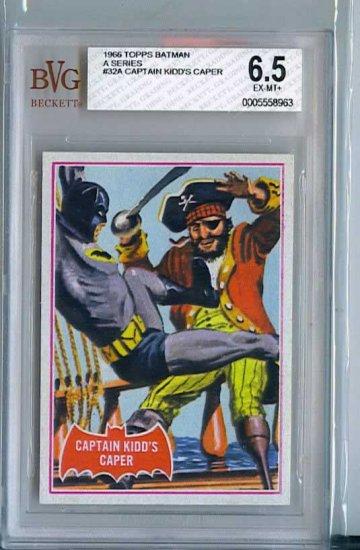 BVG GRADED 1966 BATMAN CARD # 32, 6.5 FN +