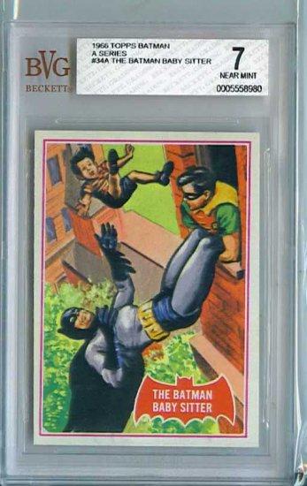 BVG GRADED 1966 BATMAN CARD # 34, 7.0 FN/VF