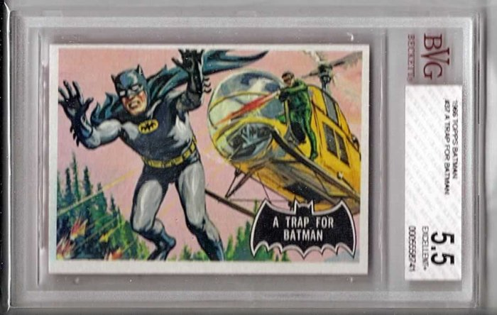 BVG GRADED 1966 BATMAN CARD # 37, 5.5 FN -