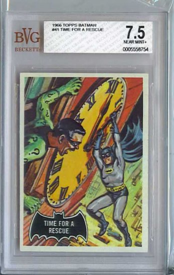 BVG GRADED 1966 BATMAN CARD # 41, 7.5 VF -
