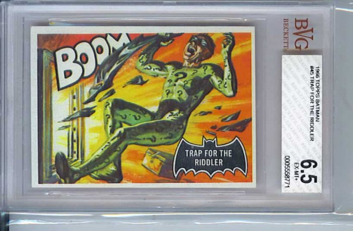 BVG GRADED 1966 BATMAN CARD # 45, 6.5 FN +