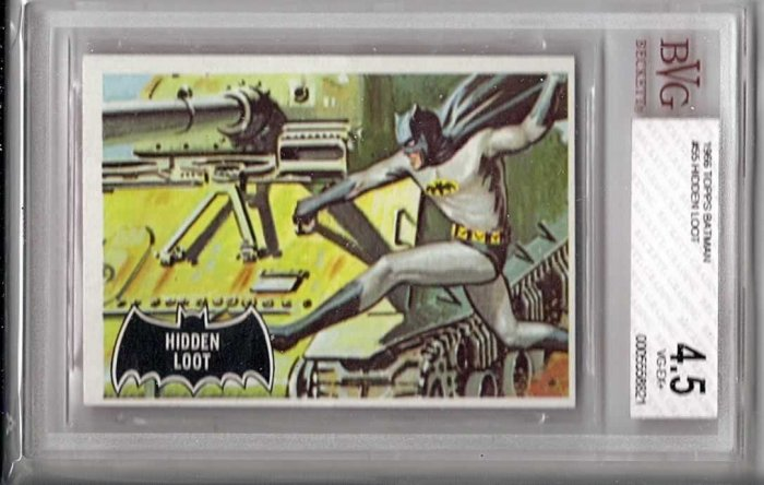 BVG GRADED 1966 BATMAN CARD # 55, 4.5 VG +