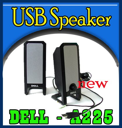 LOT OF 10 Dell Multimedia A225 Black USB PC Speakers  `