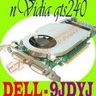 #Nvidia GeForce GTS 240 GTS240 1GB PCIe DVI Video 9JDYJ