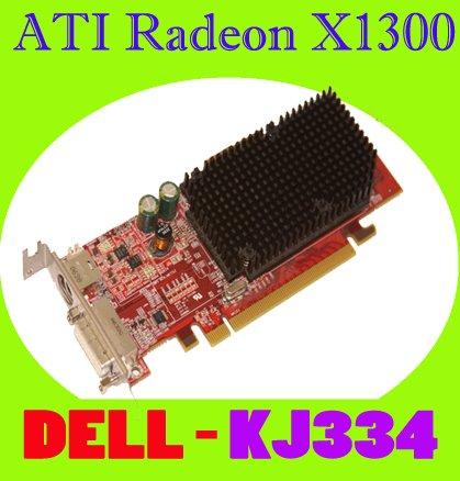ATI Radeon X1300 128MB PCIe DVI Low Profile Video KJ334
