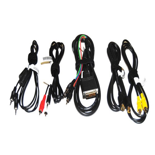DELL 4100MP PROJECTOR CABLES - NEW - SET OF 5 CABLES  :