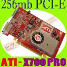 ATI RADEON X700 PRO 256MB PCI-E DVI VGA VIDEO CARD  #