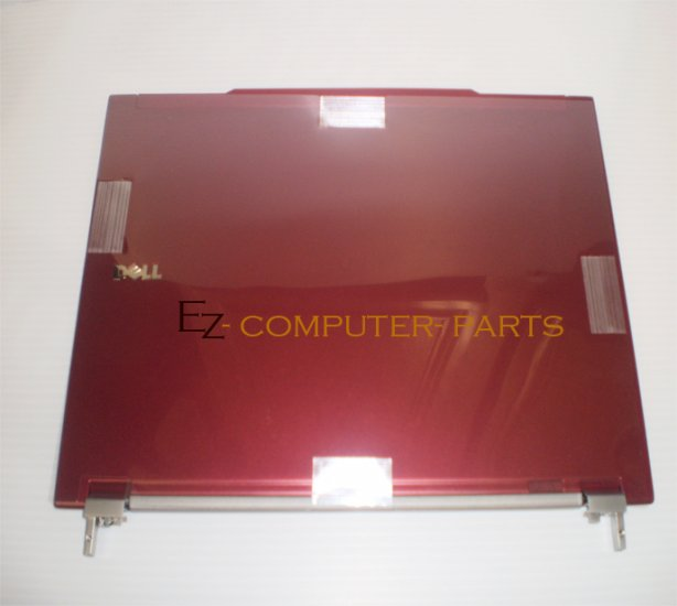 Dell E4300 LCD Back Cover RED w/Hinges T125G R002C New!