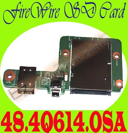Dell M1730 USB FireWire SD Card DS Board 48.4Q614.OSA #