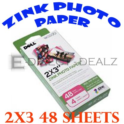 `Brand New Dell Wasabi Zink Photo Paper 48 Sheets H858K