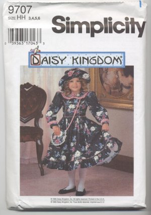 Childs Dress, Hat & Purse Sz 3,4,5,6 Daisy Kingdom 9707