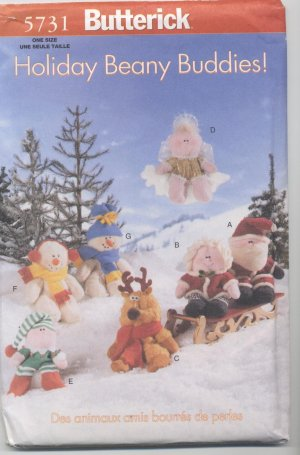 Holiday Beanie Buddies Butterick 5731