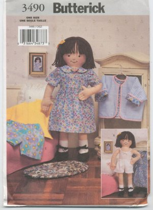 """18"""" Soft maggie Doll Butterick 3490"""