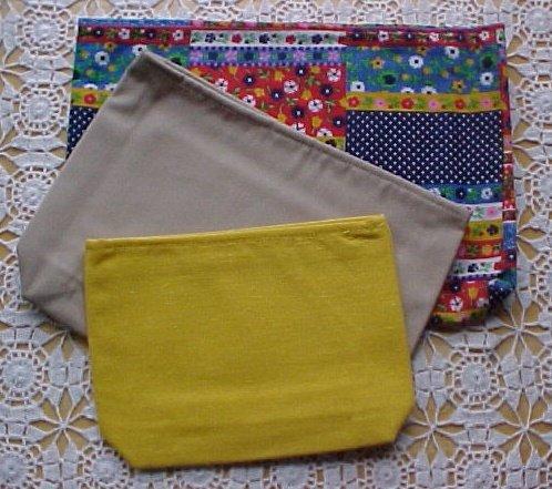 Fabric SET of 3 purse ORGANIZER