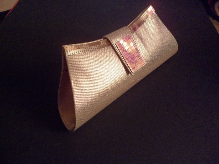 Pink/Golden Fashionable Evening clutch