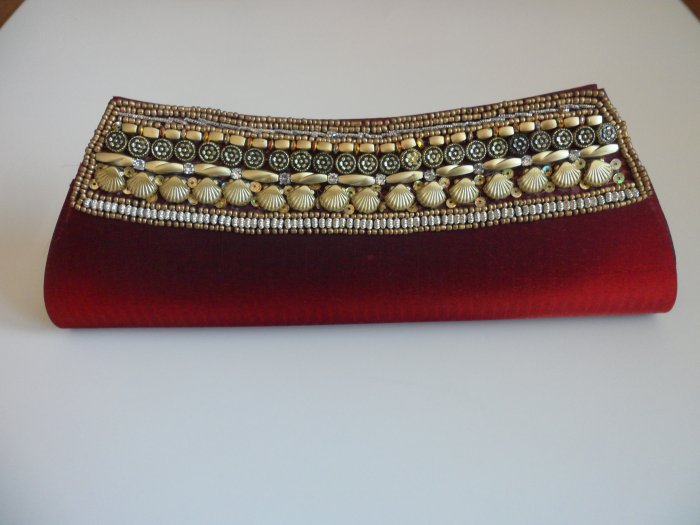 Maroon Red Clutch