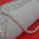 White Beads with Diamonds fashionable purse.