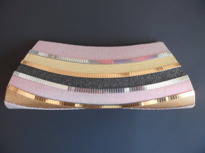 Golden/Sliver and Pink colored evening clutch
