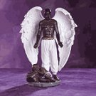 Alabastrite Male Black Guardian Angel -30278
