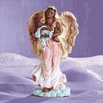 Alabastrite Guardian Angel With Baby -28137