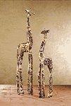 Patchwork Standing Giraffes - Safari -30218