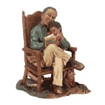Alabastrite Afro-American Grandpa With Child -30263