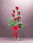 Satin Roses Bouquet in Vase -33190