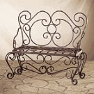 Hammered Iron Garden Bench -33212