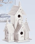 Wood Distressed Victorian Birdhouse -32347