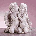 Kissing Cherubs Sculpture -34262