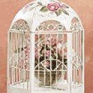 Distressed Beige Metal Birdcage -33209